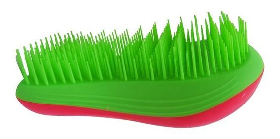 Cepillo Para Desenredar Cabello Verde Y Azul Candy Brush