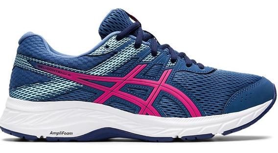 Asics Zapatillas Running Mujer Gel Contend 6 Marino-rosa