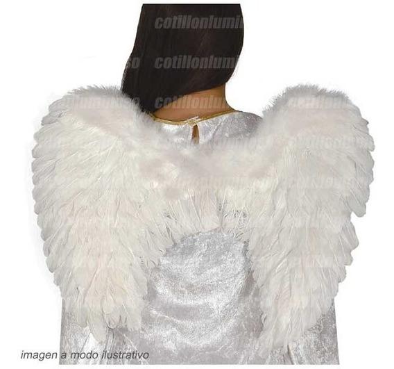 Alas De Angelito Color Blancas Plumas Disfraz Despedida