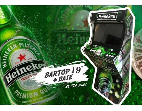 Bartop 19 Com Base 43000 Jogos Fliperama Malvadeza Games
