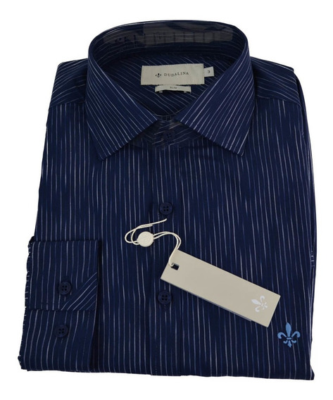 Camisa Dudalina Masculino Ml Slim Listrado 53.04