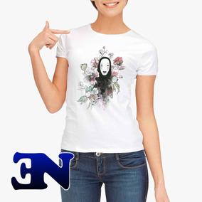 Camiseta Sem Rosto A Viagem De Chihiro Camisa Baby Look