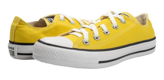 Tênis Converse Allstar Ct04200034 Amarelo Vivo/preto/braco
