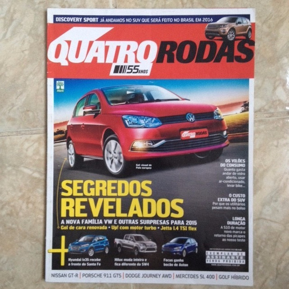 Revista Quatro Rodas N665 Jan2015 Nissan Gt-r Porsche 911 Ts