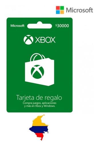 Tarjeta Regalo Xbox $30.000 Región Colombia Gift Card
