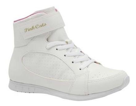 Tênis Cano Alto Infantil Pink Cats W8464a