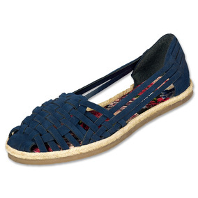 Calzado Dama Mujer Zapato Flat Marino Abierto Casual Cómodo