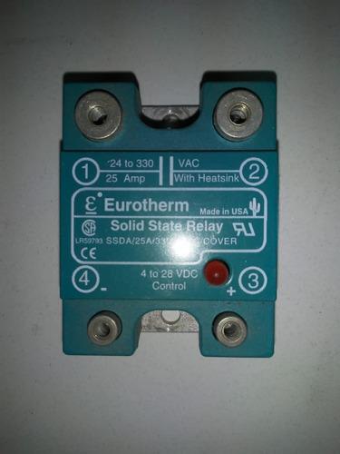 Relé De Estado Sólido - 25 Amp - Control De 4 A 28 Vcd