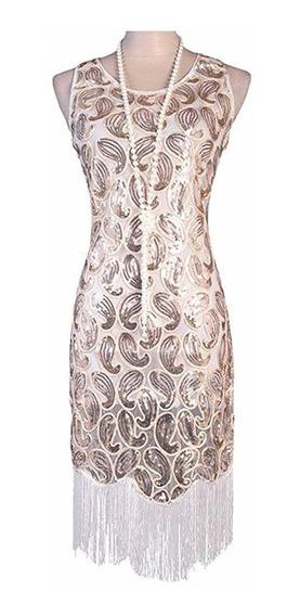 Vijiv Vestido De Mujer Gatsby Estilo; 1920s Charleston Bd