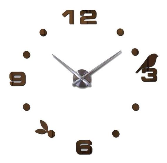 Reloj De Pared 3d Pajarito Adherible A Pared Mediano