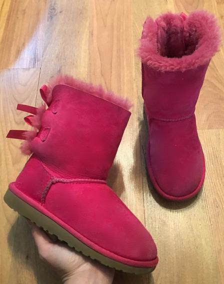 Padrisimas Botas Ugg Bailey Bow Pink Rosas 20 Originales!!