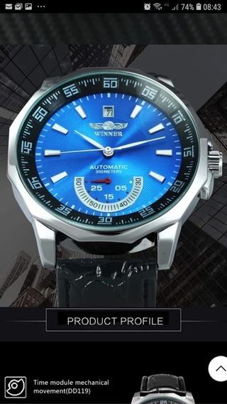 Winner Azul - Relógio Masculino Clássico