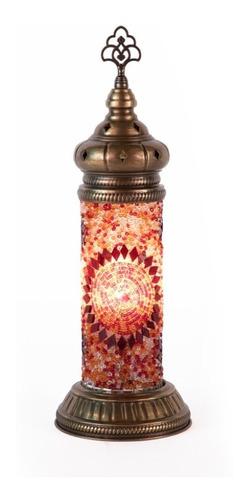 Imagen 1 de 10 de Lámpara Turca Cilindrica De Buró Mosaico