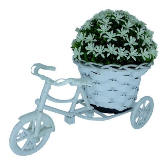 Bicicleta Miniatura Com Arranjo De Flores Decoração De Mesas