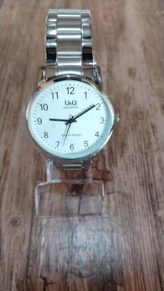 Relógio Q&q Masculino Prata Original
