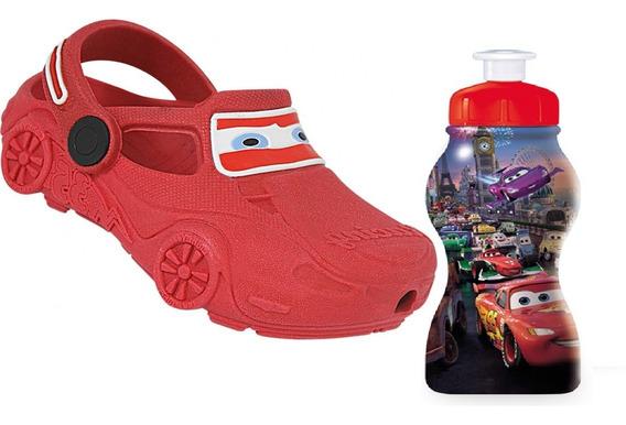 Sandália Infantil Carros Disney + Garrafa Líquidos Especiais