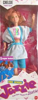 Barbie Original High School Jazzie Chelsie Muñeca 1988 Matte