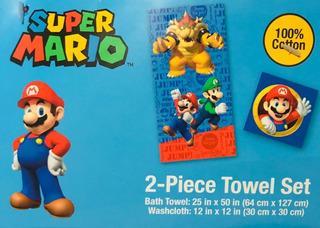 Toalla Super Mario Set 2 Piezas