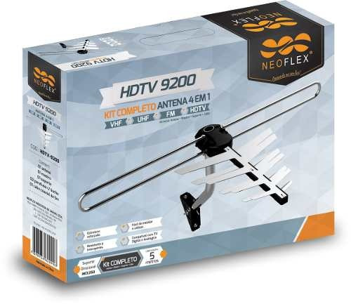 Antena Externa Digital Neoflex A Melhor +suporte + Cabo + Nf