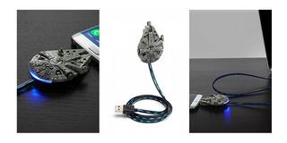 Star Wars Cargador Millennium Falcon Micro Usb Nuevo Imp