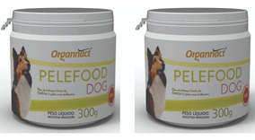 2 X Pelefood Dog 300g Organnact 300 G Pet Shop Store