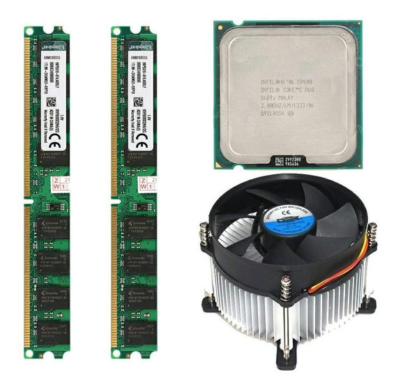 Core 2 Duo E8400 + 4gb Memoria Ddr2 2x2 + Cooler Dex