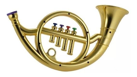 Trompete Infantil Mini 4 Botoes Iniciantes Musical Criança