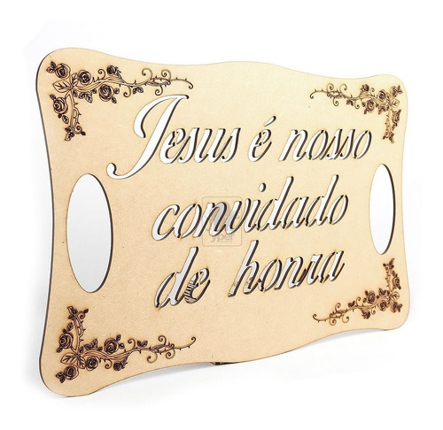 Imagem 1 de 1 de Placa Para Casamento Frase Jesus Nosso Convidado De Honra