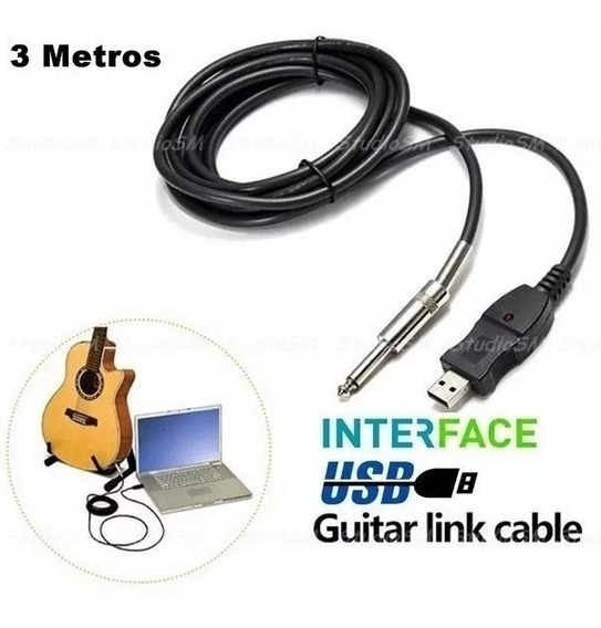 Cabo P10 Guitarra Para Usb Guitar Link Plug And Play