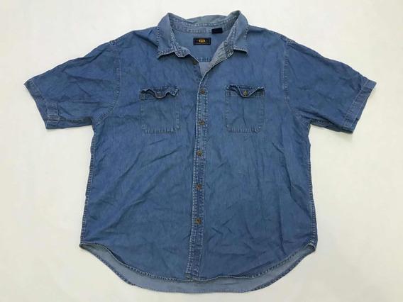 Camisa Route 66 Mezclilla Hombre Talla Xl Manga Corta
