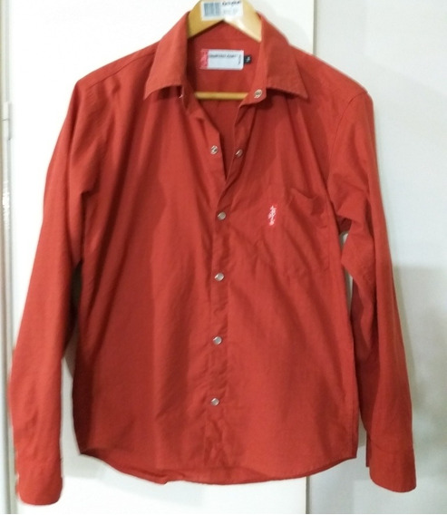 Camisa Levis Mujer Importada T M Color Terracota Impecable