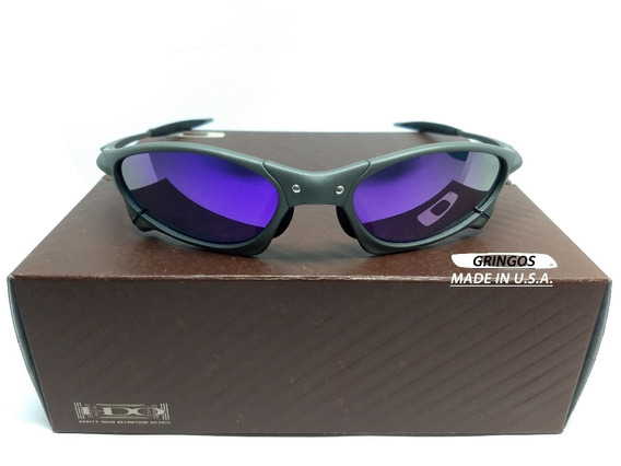 Oculos Oakley Juliet Penny Xmetal Lente Roxa + Lente Extra
