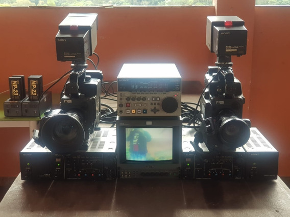Kit De Câmera Profissionais Xdcam Sony Dxc-325 Completo