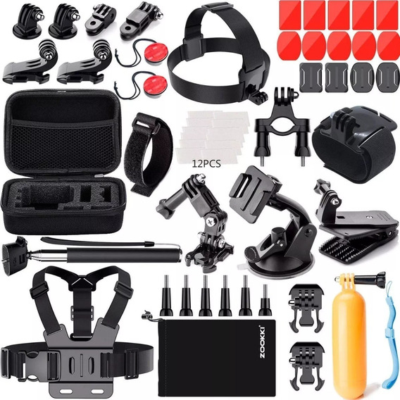 Kit Acessorios E Suportes P/ Gopro Hero 4 Session 5 6 Black