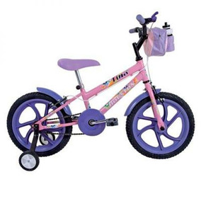Bicicleta Houston Tina Mini Aro 16 C/ Rodas Rosa Munique
