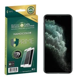 Kit Hprime Capa + Película Nanocolor Full iPhone 11 Pro