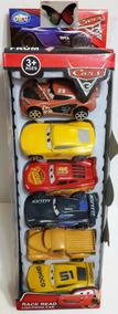 Set De 06 Carritos Cars De Friccion 8 X 6 Cm Para Niños