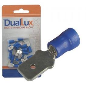 Engate Encaixe Macho 2.60mm 16-14awg Azul 20 Unidades Duallu