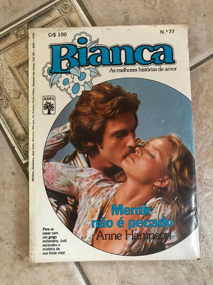 Livro De Romance Bianca Número 77 Mentir Não É Pecado