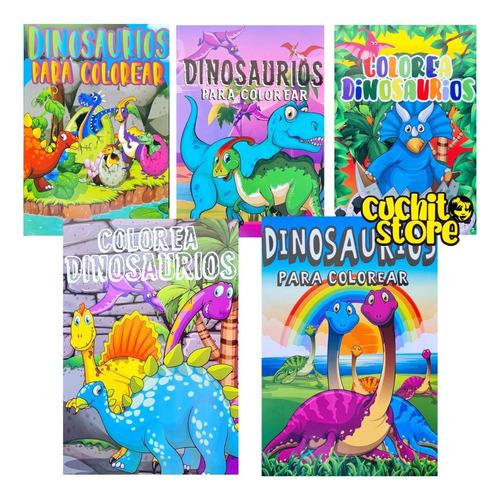 Pack 5 Libros Colorear Dinosaurio Para Pintar Niños