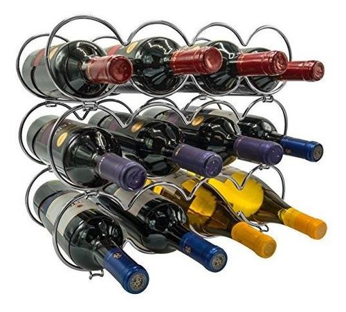 Sorbus 3tier Stackable Wine Rack Ronda Classic Style Wine Ba