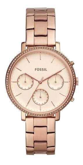 Relógio Fossil Feminino Sylvia Rosé Es4436/1jn