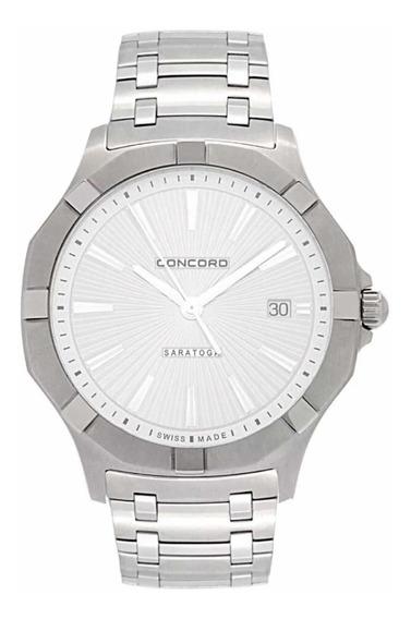 Relógio Concord Saratoga 320152 Quartz Ss Original Novo