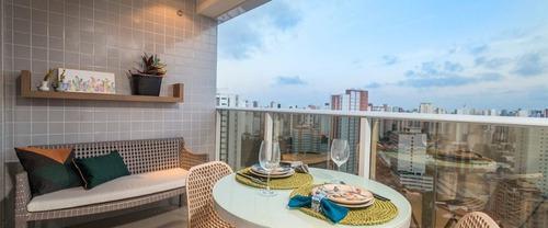 Imagem 1 de 12 de Apartamento Com 2 Dormitórios À Venda, 64 M² - Meireles - Fortaleza/ce - Ap0096