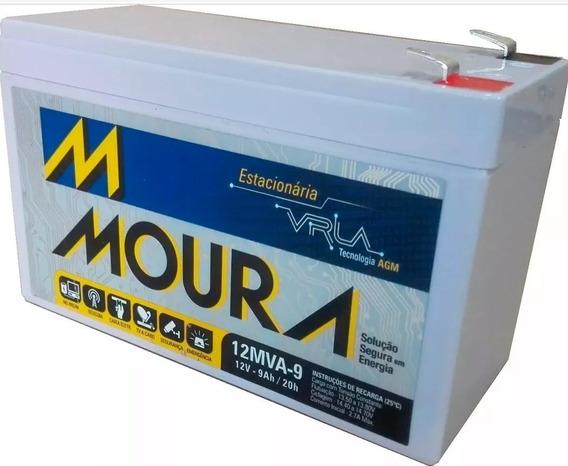 Bateria Moura Estacionária 12v 9ah Vrla Nobreak Alarme Cerc