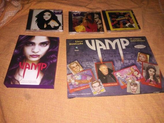 Kit Novela Vamp Cd + Box Dvd+ Album Usados Raros Originais