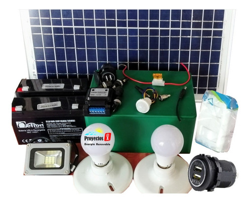 Planta Panel Solar Usb, Bombillos Led ¡kit Hágalo Ud Mismo!