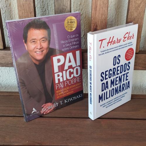 Imagem 1 de 5 de Kit Livro Pai Rico Pai Pobre E Segredos Mente Milionária