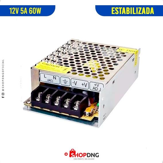 Fonte Chaveada Colméia 12v 5a 60w Estabilizada Bivolt Cftv