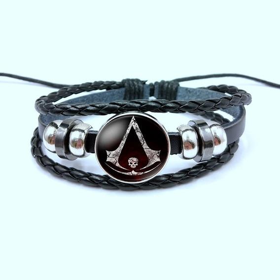 Nova Pulseira Bracelete Assassins Creed Cosplay Gamer Geek